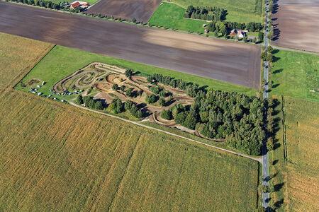 Luftaufnahme Kartbahn