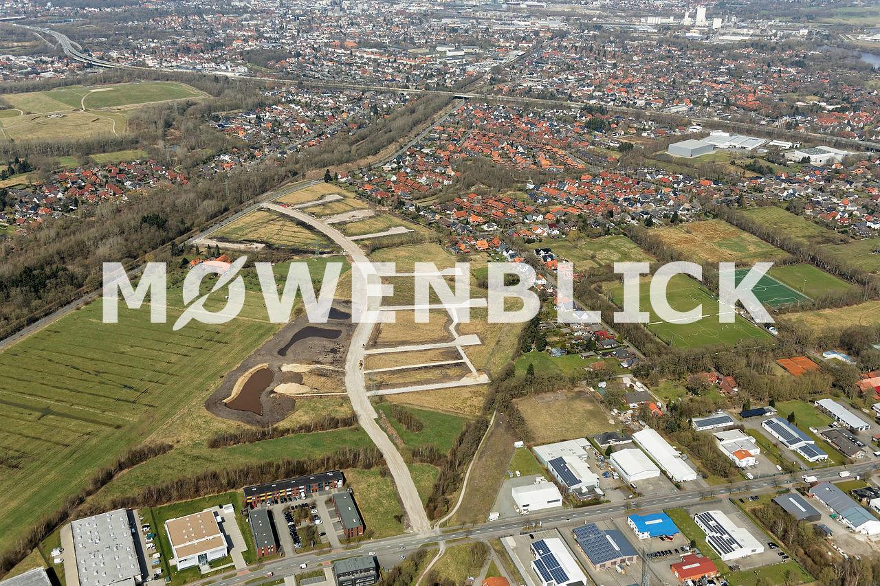 Baugebiet Am Bahndamm Storchweg Luftbild