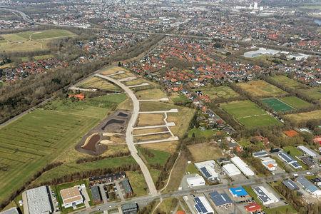 Luftaufnahme Baugebiet Am Bahndamm Storchweg