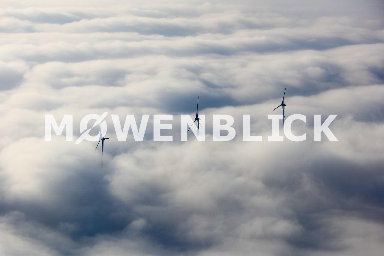 Windkraftanlagen Luftbild