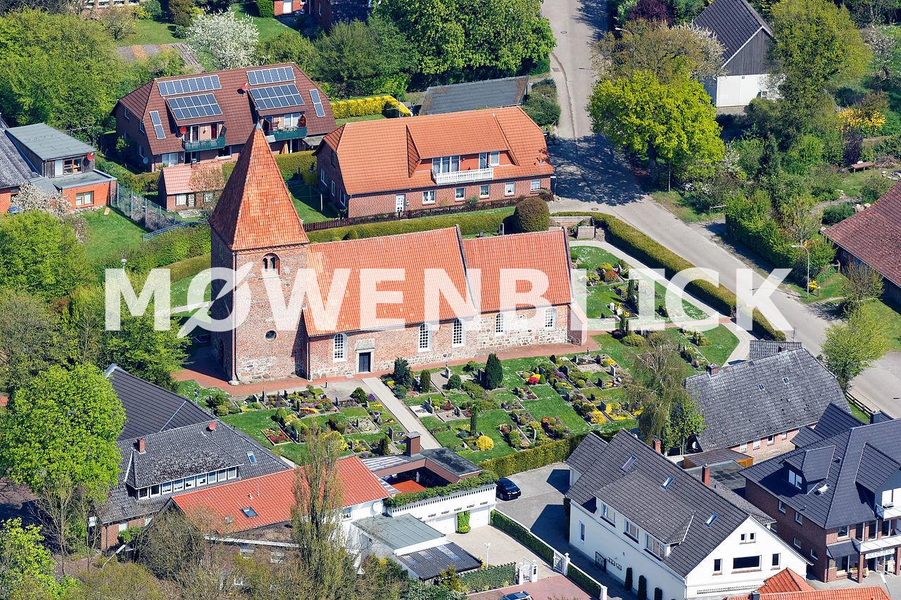 St. Ansgari-Kirche Kirchhatten Luftbild