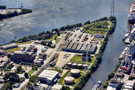 Luftaufnahme Neuhöfer Kanal