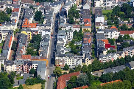 Luftaufnahme Goethestraße Bebauung