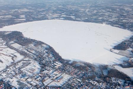 Luftaufnahme Zwischenahner Meer zugefroren