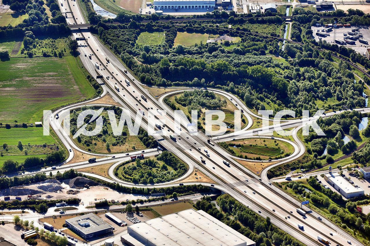 Bremen Hemelingen Autobahnabfahrt Luftbild