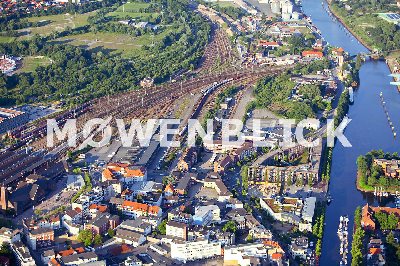 Bahnhofsgelände Luftbild