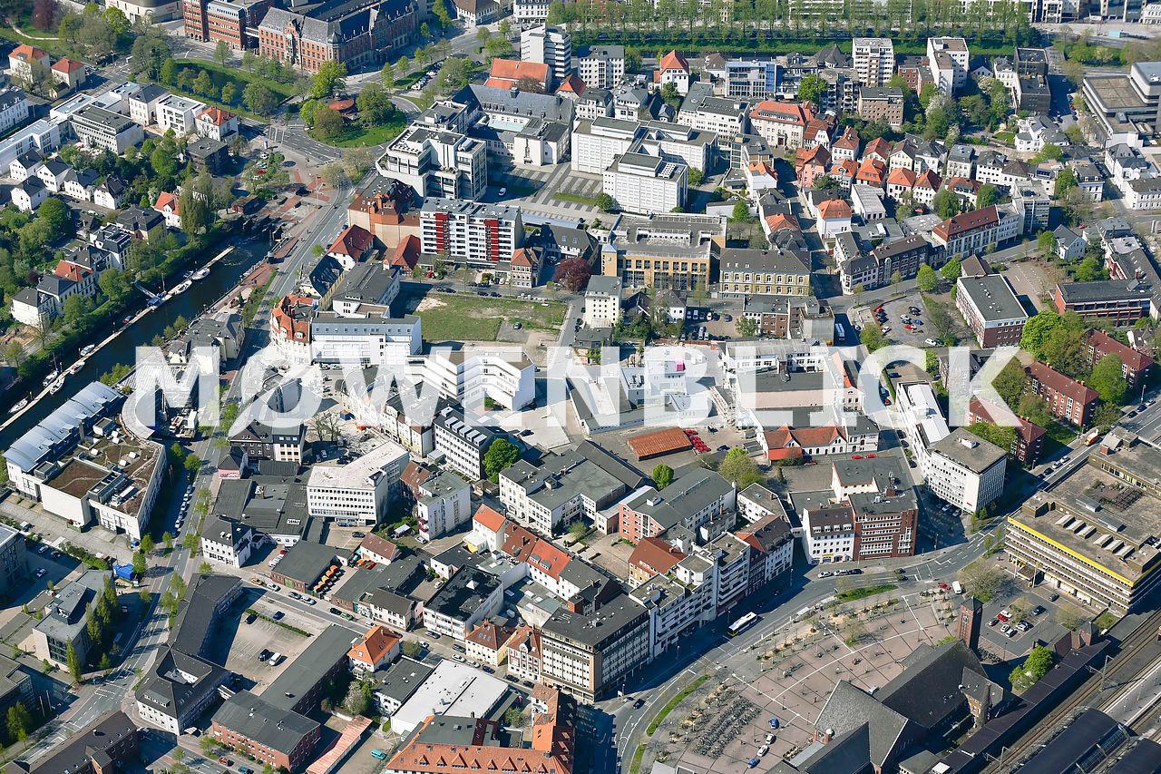 Sanierungsgebiet Bahnhofsviertel Luftbild