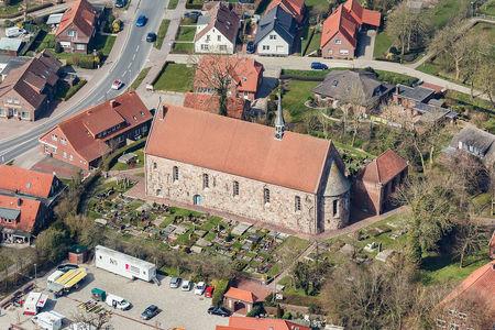 Luftaufnahme St. Sixtus und Siniciuskirche