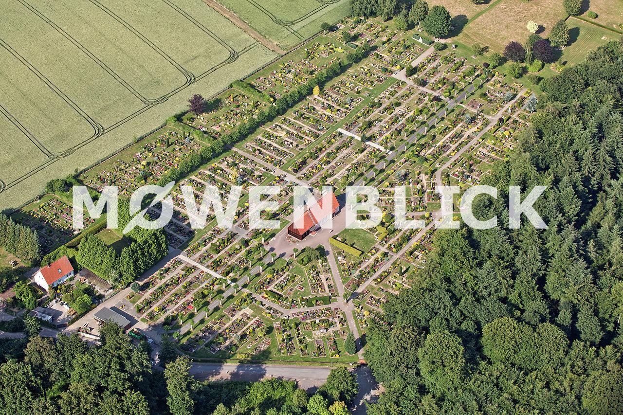 Der Friedhof Luftbild