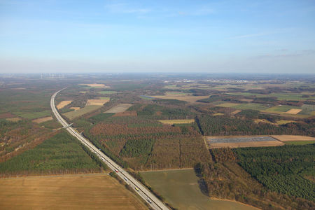 Luftaufnahme Autobahnabfahrt