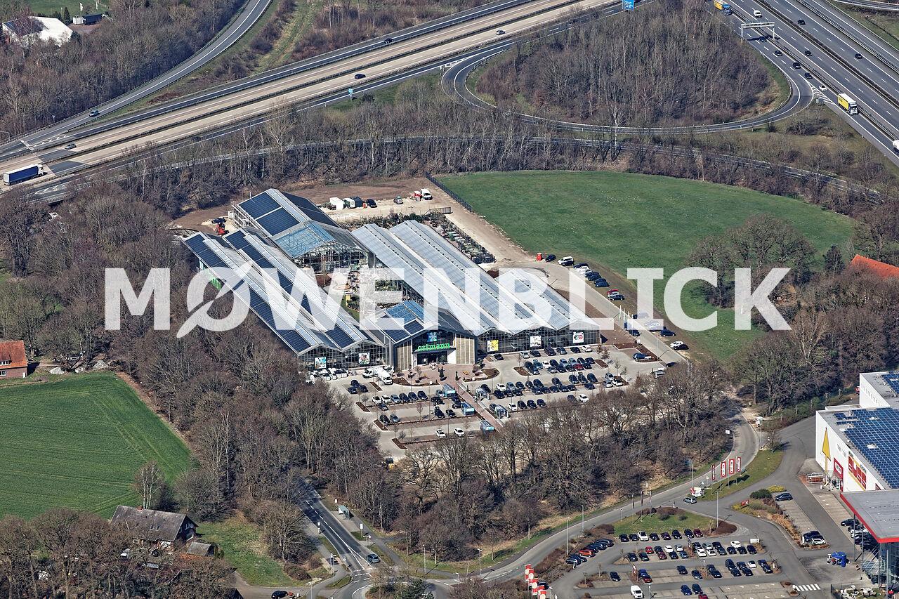 Ostmann Gartencenter Luftbild