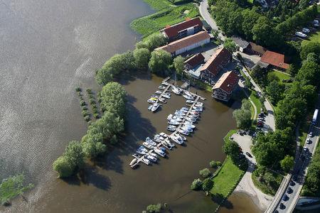 Luftaufnahme Weserüberschwemmung