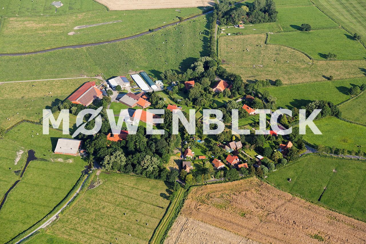 Runddorf Ziallerns Luftbild