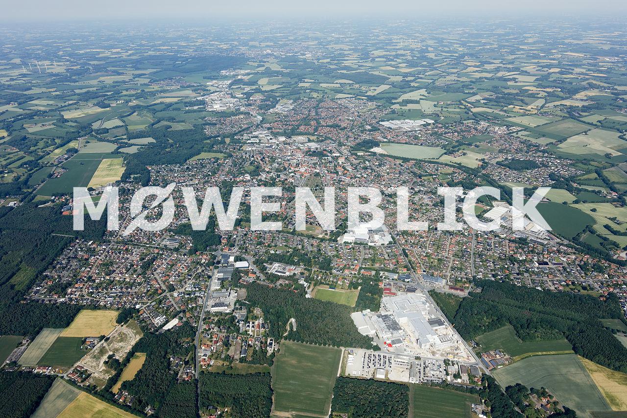 Gesamte Stadt Luftbild