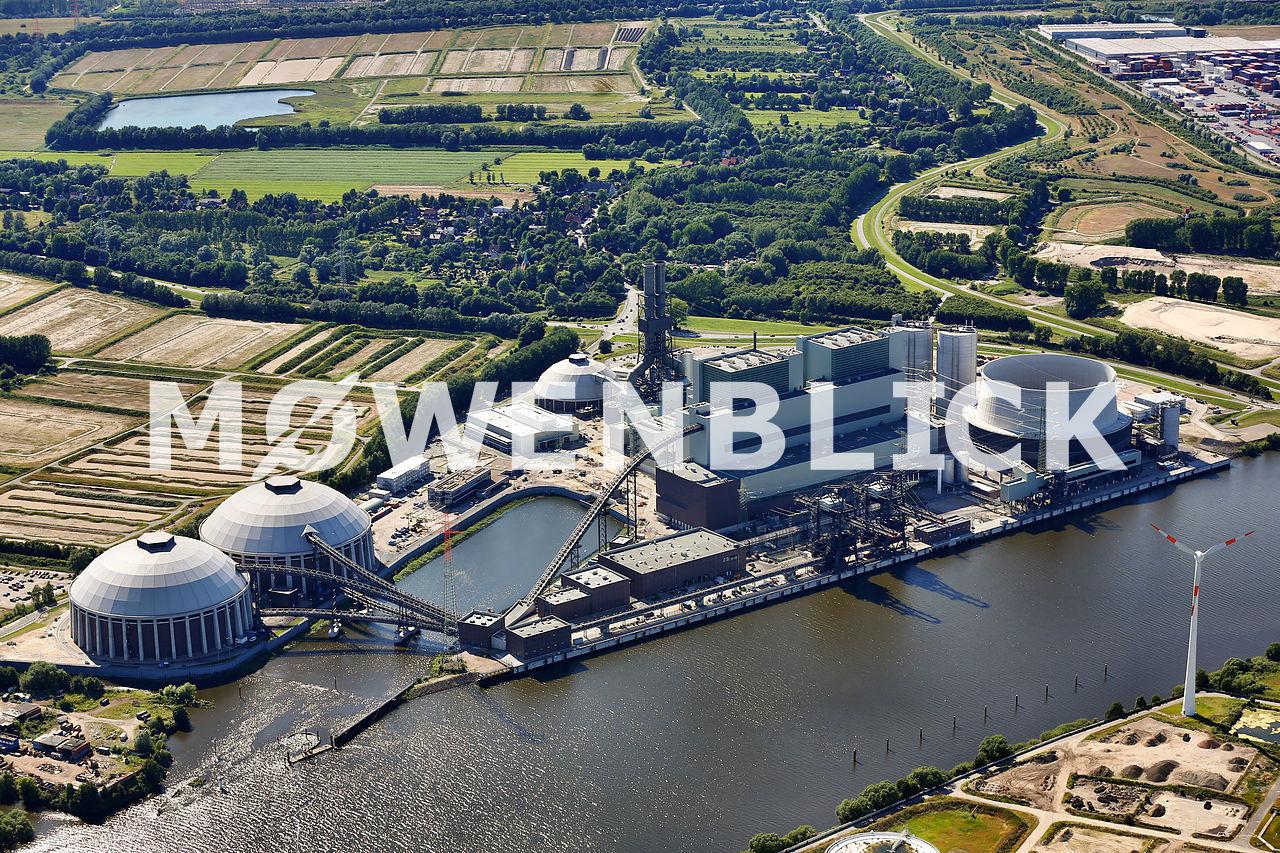 Kraftwerk Moorburg Luftbild
