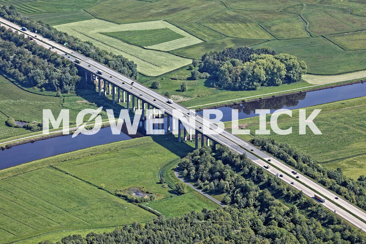 Autobahnbrücke Hunte Luftbild