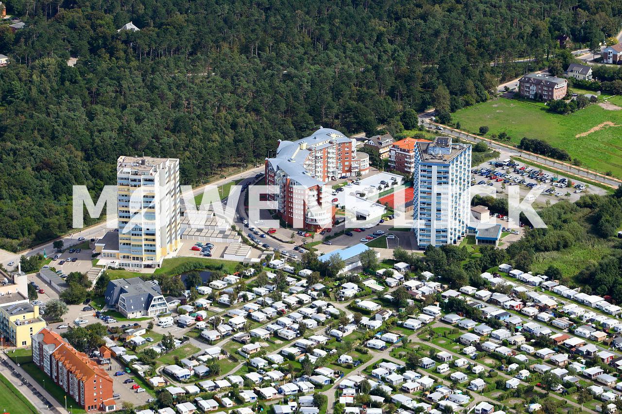 Hotels im Ferienort Luftbild