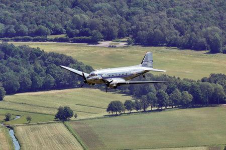 Luftaufnahme DC 3 Überflug Ganderkesee