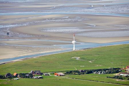 Luftaufnahme Radarturm