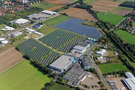 Luftaufnahme Solarpark Domäneweg