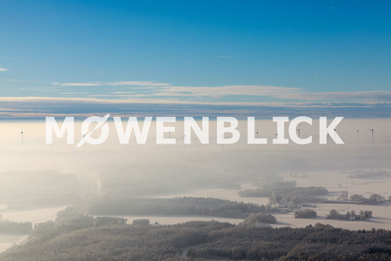Windpark im Winter Luftbild