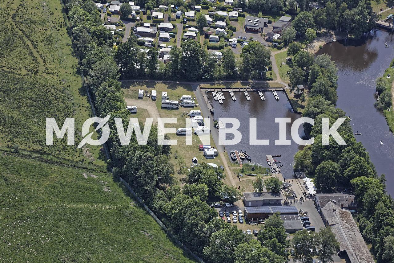 Hammehafen Wohnmobilstellplatz Luftbild