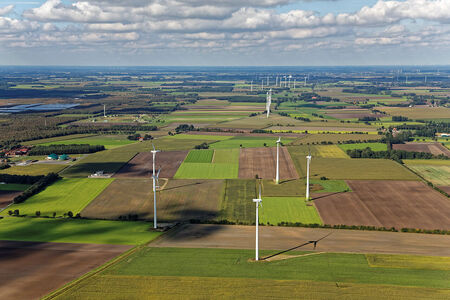 Luftaufnahme Wietinghausen Windpark