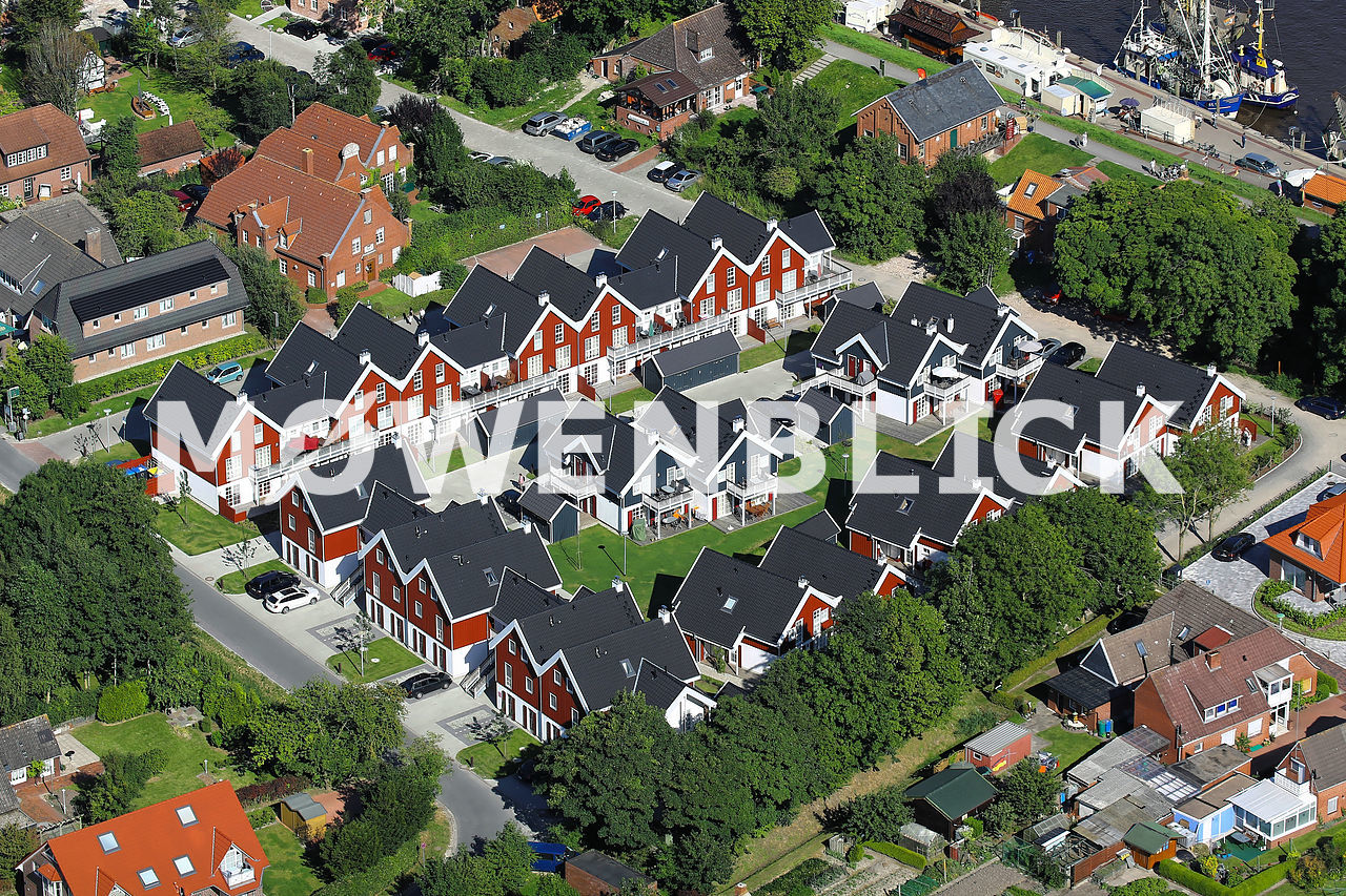 Hafendorf Greetsiel Luftbild
