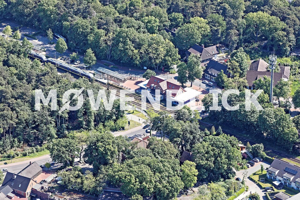 Der Bahnhof Luftbild