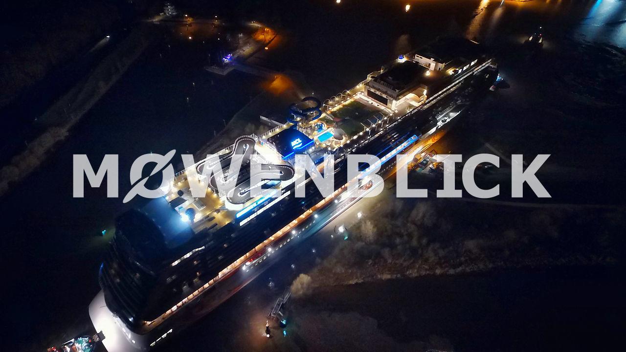 Schiff Meyer Werft Luftbild