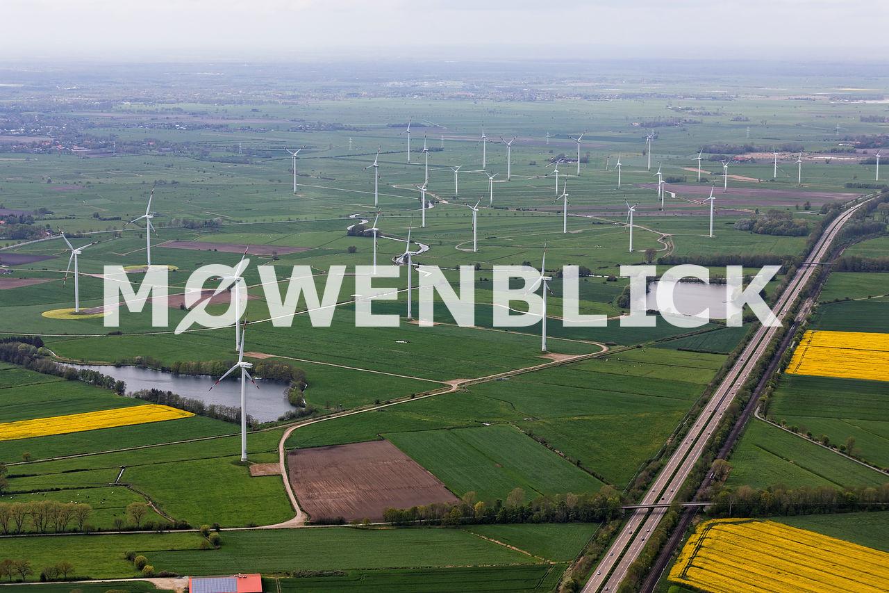 Windpark Ammersche Länder Luftbild