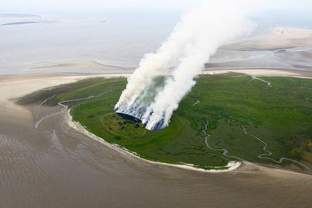 Brand der Insel Mellum