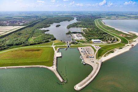 Luftaufnahme Außenhafen Hooksiel