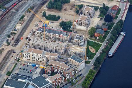 Luftaufnahme Stau Oldenburg