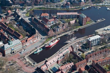 Luftaufnahme Delft Binnenhafen