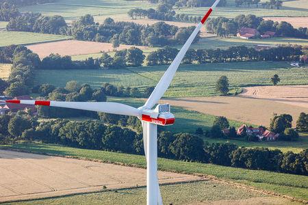 Luftaufnahme Windrad