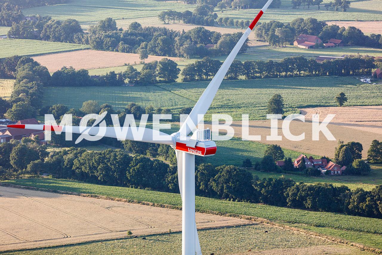 Windrad Luftbild