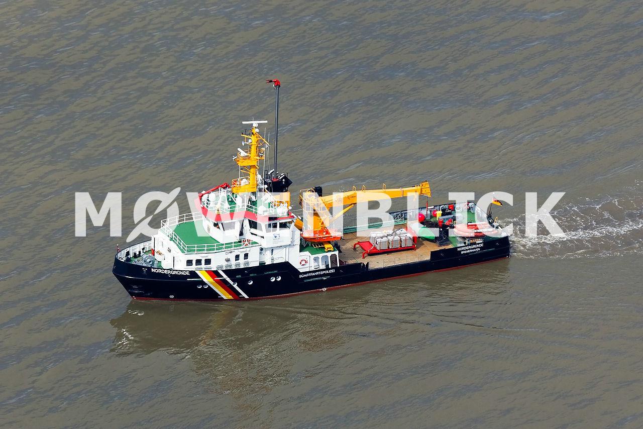 Tonnenleger Nordergründe Luftbild
