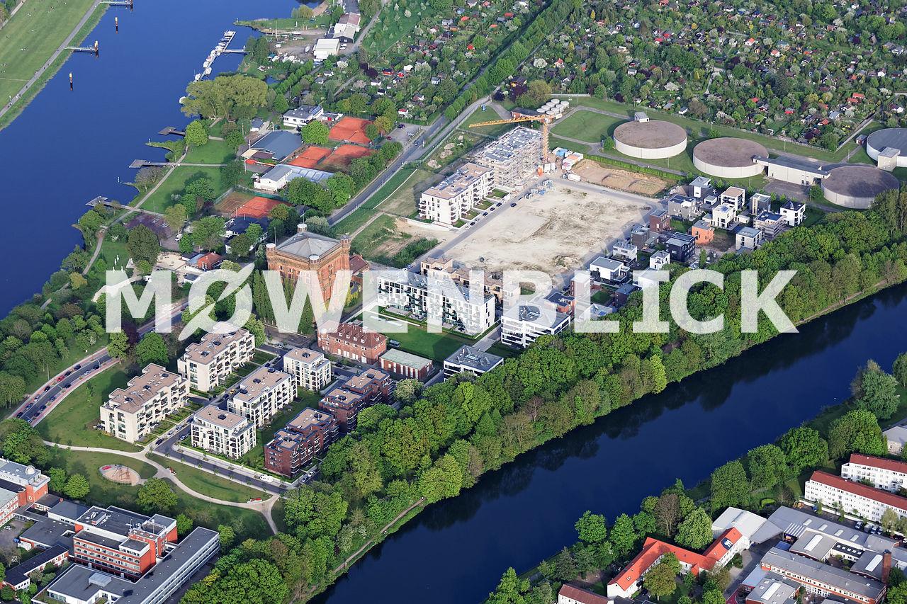 Wasserturm auf dem Werder Luftbild
