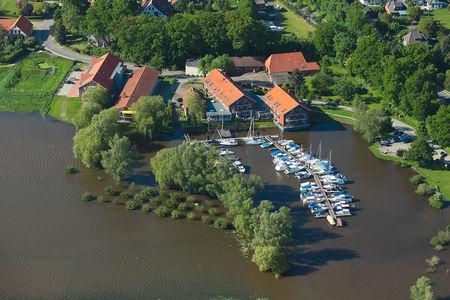 Luftaufnahme Bootshaus Restaurant