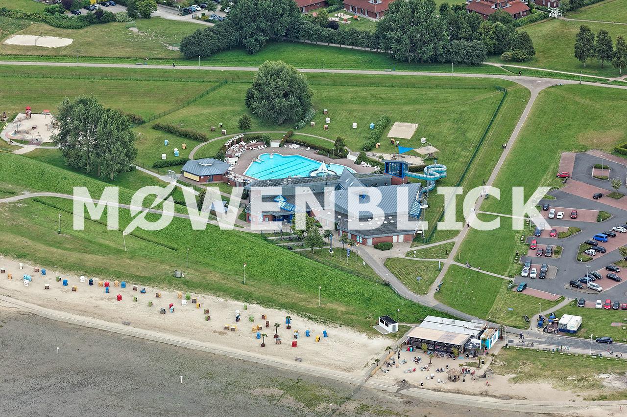 Nordseebad historisch Luftbild