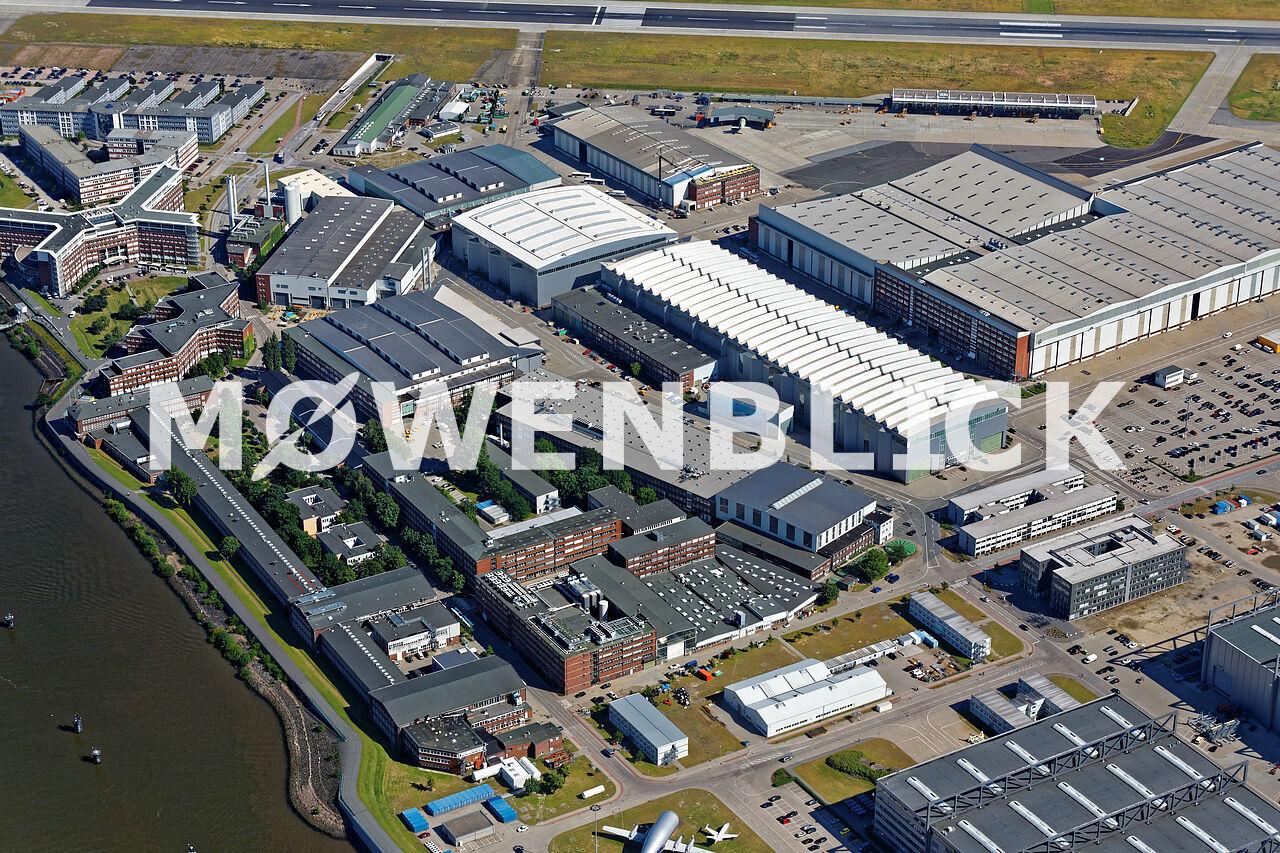 Airbus Halle 8 Luftbild