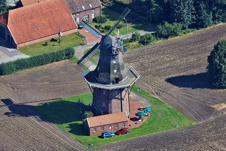 Luftaufnahme Holtlander Windmühle