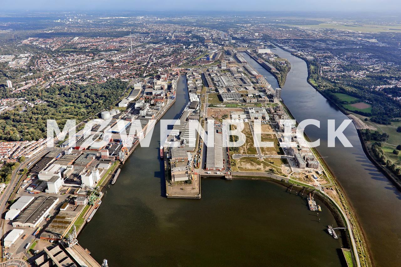 Überseestadt Neubauten Luftbild