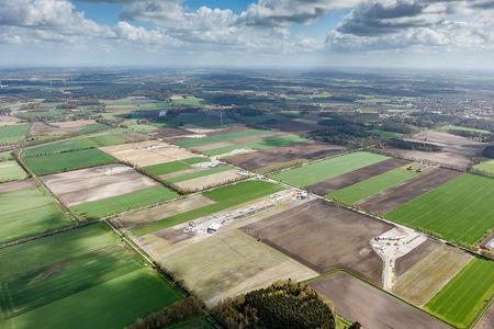 Luftaufnahme Windpark Hatter Landstraße