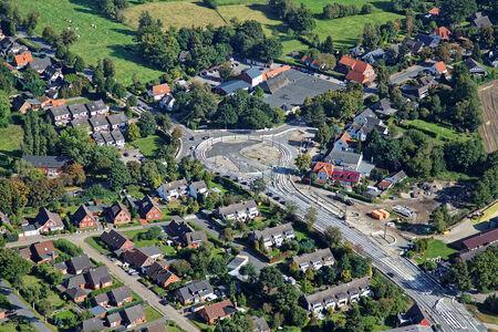 Luftaufnahme Strassenbau