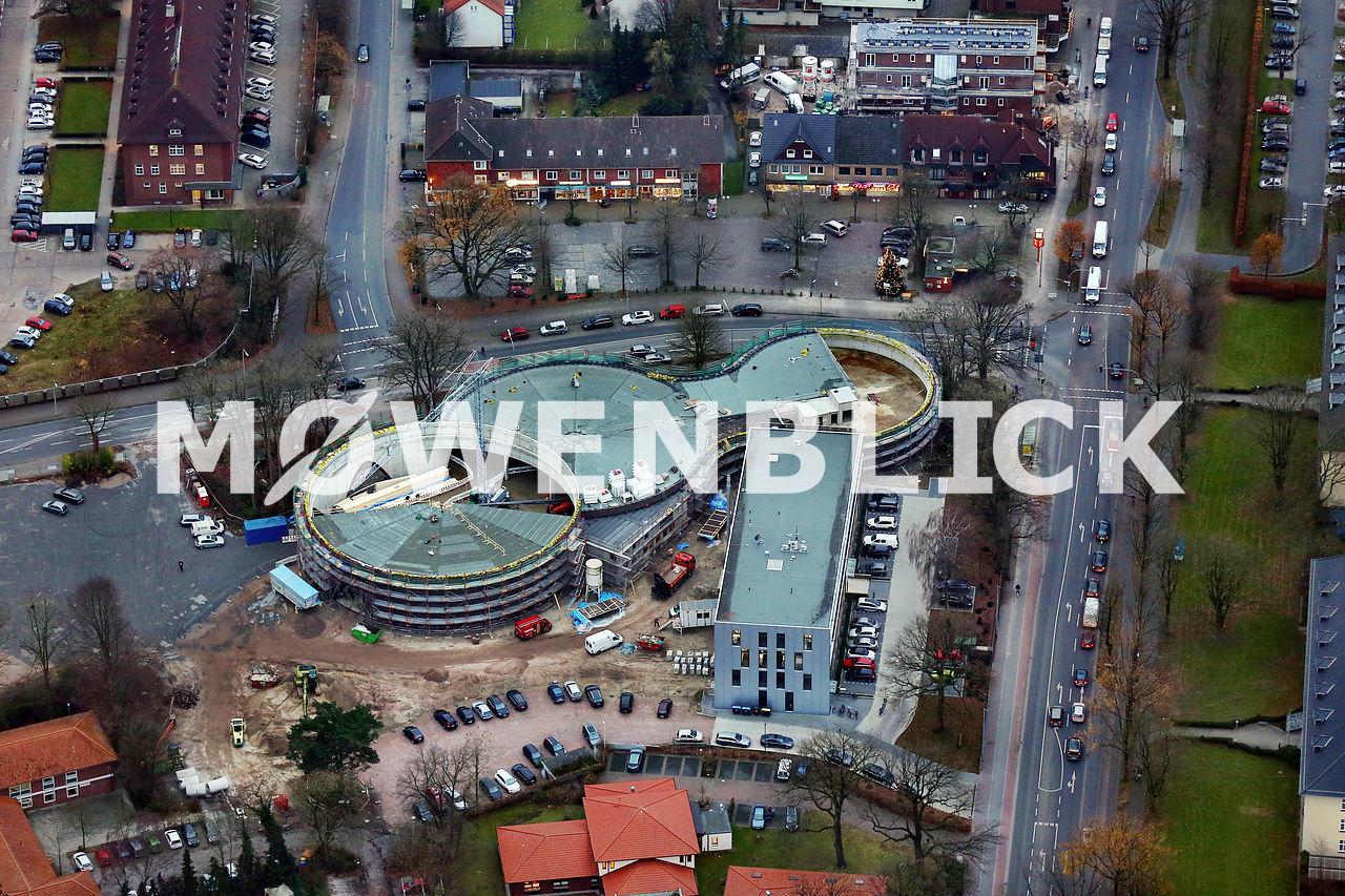 Neubau Irma Richtfest Luftbild