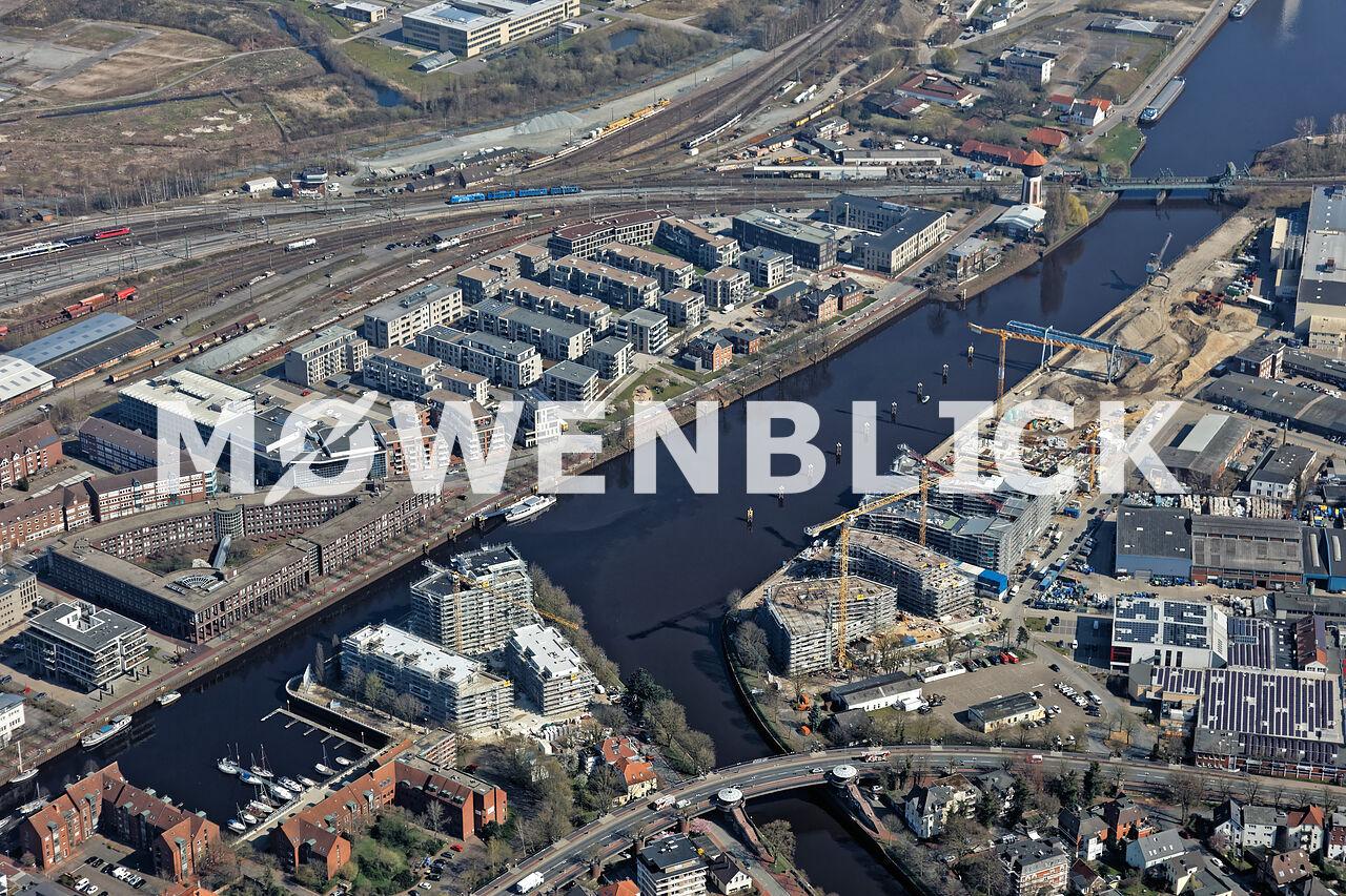 Bauprojekt Alter Stadthafen Luftbild