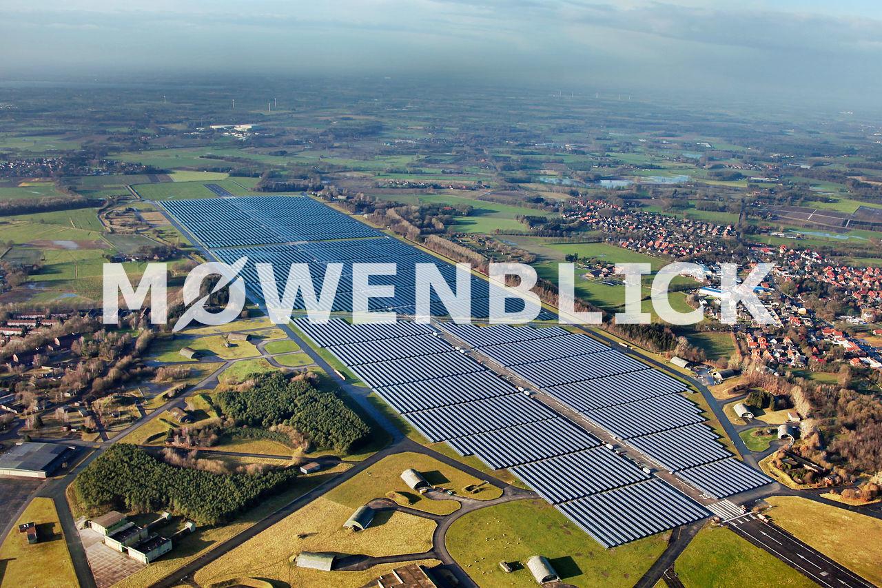 Solarpark Oldenburg  Wiefelstede Luftbild