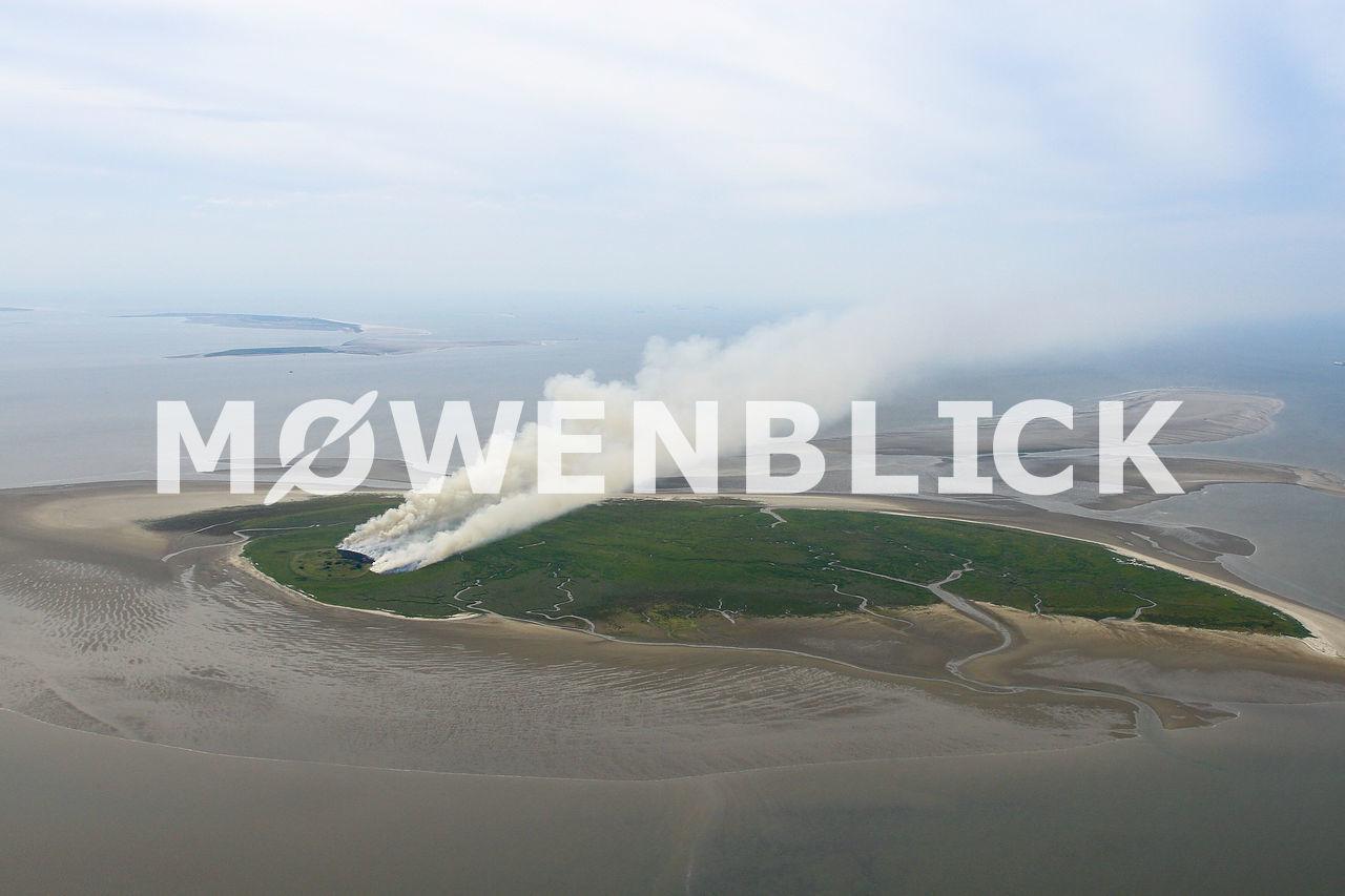 Brennende Insel Mellum Luftbild